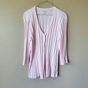 Croft & Barrow Soft Pink Long Sweater Cardigan